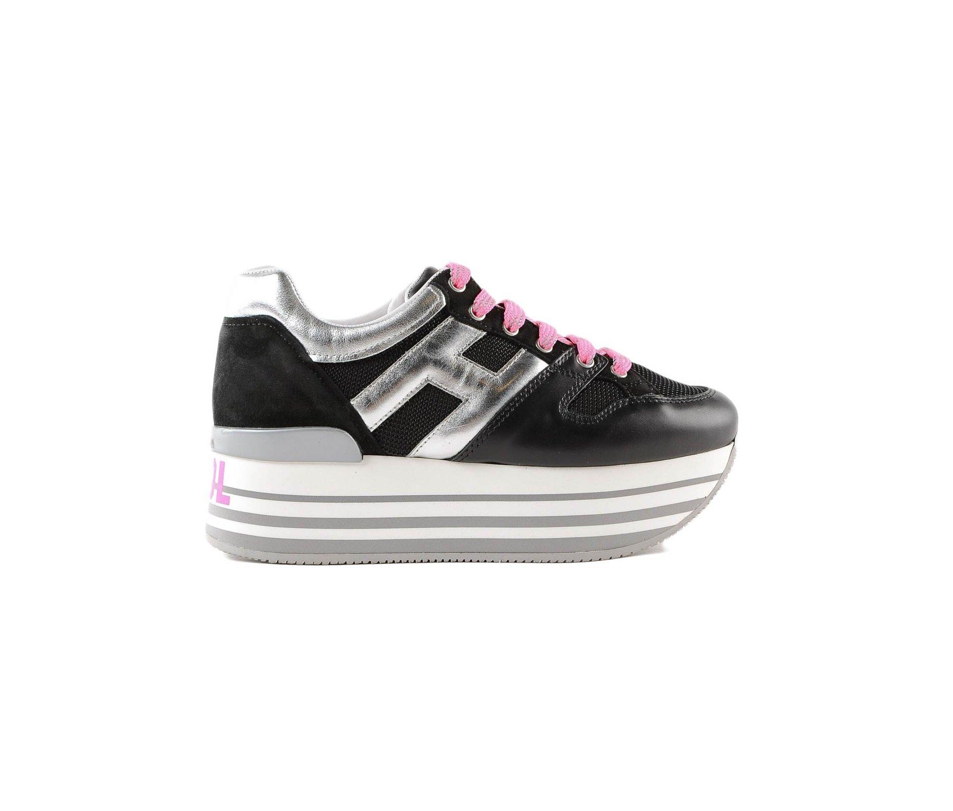 Sneakers Hogan Maxi H222 con plateau arcobaleno Donna